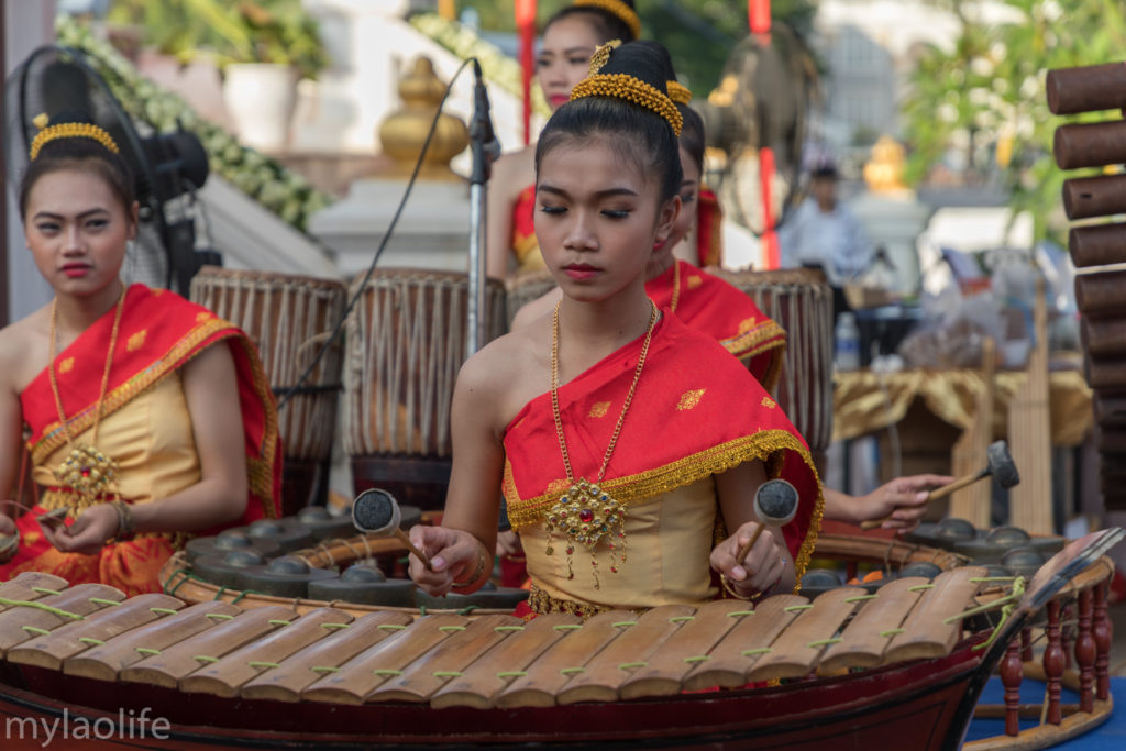 Chao Anouvong Statue Vientiane Laos Traditional Music
