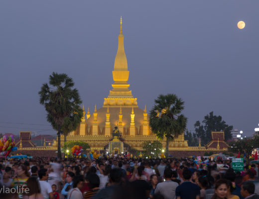 That Luang Festival Vientiane Laos 2017 Culture Buddhism