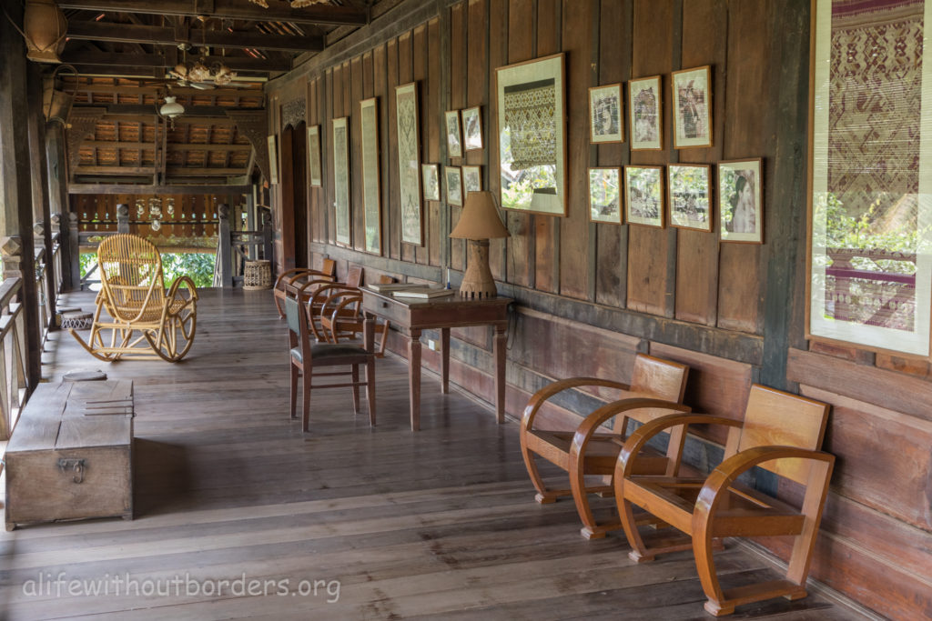 Lao Textile Museum Vientiane Traditional Wooden House