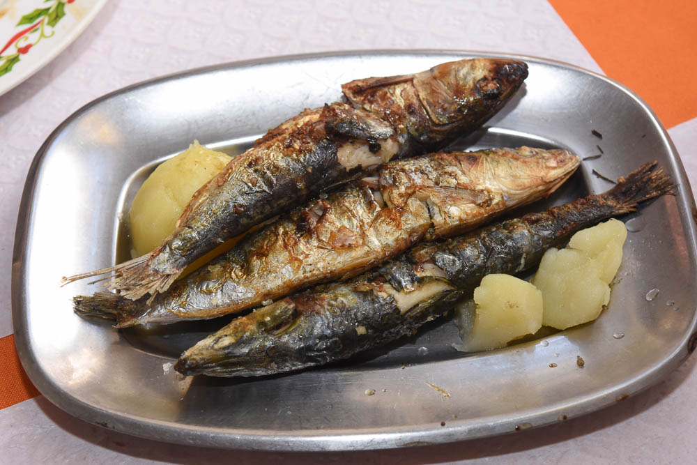 grilled sardines in aveiro portugal